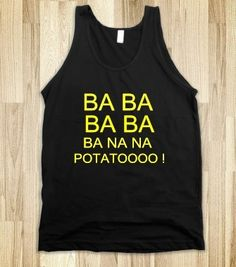 I found 'Banana Potatoe MINION SONG Funny Tank Top in Black and White' on Wish, check it out!