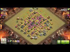 Clash of Clans TH8 vs TH8 Dragon Clan War 3 Star Attack ⋆ Clash of Clans 3 Stars Clan Wars