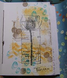 Stamping For Pleasure: Art Journal Pages