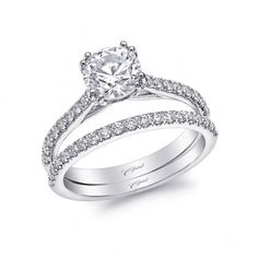 This classic and elegant engagement ring features double prongs holding the center stone and diamonds on the shoulders of the ring. Created for a 1CT center stone. - Charisma Collection The newest Coast bridal collection featuring sophisticated designs with stellar workmanship and finish. - Coast Diamond by Jay Gilbert Elegant design and superb quality are the hallmarks of a Coast Diamond ring. #CoastDiamond