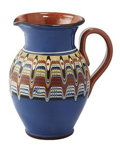 DRIP PITCHER | Handmade Ceramics, Vase, Jar, Container, Pottery, Glazed, Bulgaria, Traditional | UncommonGoods