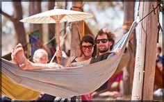 Rainbow Serpent Festival 2012 sharing a hammock