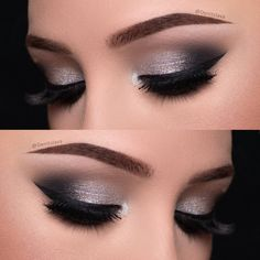 Eye Makeup Silver Smokey Eyeshadow Tutorials Ideas For 2019 Denitslava Makeup, Eye Makeup Glitter, Silver Eye Makeup, Makeup Eye Looks, Simple Eye Makeup, Prom Makeup, Makeup Inspo, Bridal Makeup, Silver Smokey Eye