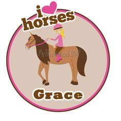 Personalized HORSE Equestrian Jumper birthday Party Girl t shirt Name. $16.00, via Etsy.