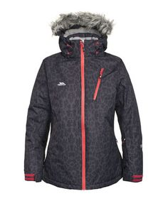 Holyoke flint leopard print ski jacket Sale - Trespass Sale