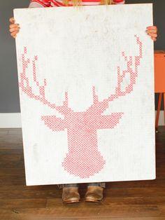 Oh, deer! Cool DIY art for dorm rooms. >> http://www.hgtv.com/design/make-and-celebrate/handmade/33-diy-dorm-room-ideas-pictures?soc=pinterest