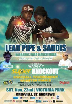 Barbados Road march Kings LIVE after the Football Quarter Finals Nov 22nd @ Victoria Park #partygrenada
