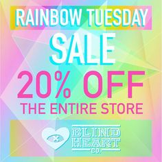Forget waiting for #BlackFriday. E have #rainbowtuesday going on right now at @blindheartco. But hurry the deal is today only.  Use this link for the discount code: http://n8br.us/rainbowtues  #sales #shopping #holidayshoping #shopsmall #smallbusinesssaturday #posters #artprints #enamelpins #deals #shopping #tshirts #etsy #sale #handmade #holidaygifts #giftideas November 24 2015 at 12:31AM