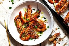 Barbecued paradise prawn recipe extracted from Caribbean Modern by Shivi Ramoutar