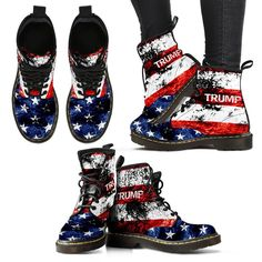 Check it out now! Women's Trump Fla... Here: http://nvr2lte2shop.com/products/womens-trump-flag-boots-free-shipping?utm_campaign=social_autopilot&utm_source=pin&utm_medium=pin
