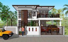 Contemporary 19 - House Designer and Builder Loft House Design, Modern Bungalow House Design, House Outer Design, 4 Bedroom House Designs, House Fence Design, Modern House Floor Plans, 2 Storey House Design, Best Modern House Design, Modern Exterior House Designs