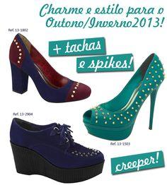 Novidades para a coleção Outono/Inverno 2013. #tachas #spikes #creeper #viamarte #garotasdobrasil