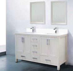 double sink white vanity. 60 White Bathroom Vanity Double Sink At Adornus Camile inch Modern