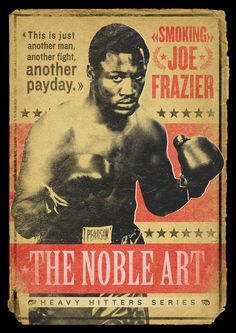 VINTAGE BOXING POSTER / JOE FRAZIER / Art Print by Frankie White | Society6