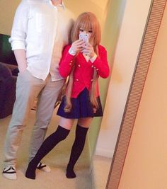 """❤️ """"Even if you're not by my side right now, I will leap through space and time and always be by your side."""" ❤️ using Smoov as a… Taiga Cosplay, Epic Cosplay, Cute Cosplay, Amazing Cosplay, Cosplay Outfits, Cosplay Girls, Cosplay Costumes, Cosplay Characters, Cosplay Makeup"""