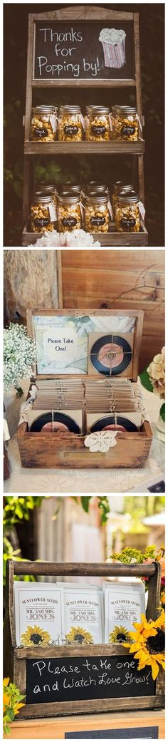 Trendy Wedding Gifts For Guests Receptions Display Country Wedding Gifts, Wedding Gifts For Guests, Unique Wedding Gifts, Rustic Wedding, Our Wedding, Wedding Ideas, Perfect Wedding, Country Weddings, Trendy Wedding