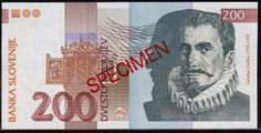 Slovenia 200 tolarjev currency of Slovenia Slovenian banknotes 200 tolarjev 1992 Series, issued by the Bank of Slovenia (Banka Slo. Slovenia, Coins, World, Pictures, Oregon, Summer, Stop It, Money, Photos