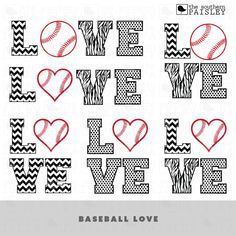 These Baseball Love Design files are for use in your Silhouette Studio, Cricut, or other programs that can read .ai, .dxf, .eps or .svg files.