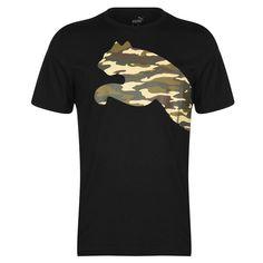 Nike Mens Shirts, Logo Puma, Collar Styles, Big Cats, Boy Outfits, Shirt Style, Short Sleeves, Crew Neck, Casual