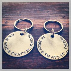 Hand Stamped Silver Avett Brothers Quote From The Ballad of Love and Hate Two…