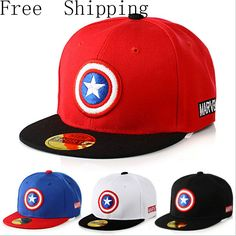 Baseball Caps Captain America Avengers 2016 Brand Baseball Caps Cartoon  Casual Hat Hip-Hop Hats And Snapback NY Caps For Children This is an  AliExpress ... 5432b5901052