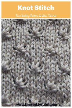Knitting Patterns Free, Free Knitting, Stitch Patterns, Free Pattern, Learn How To Knit, Knitted Blankets, Knots, Crochet Hats, Baby
