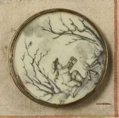 Button from a french buttons book circa 1790