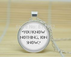 10pcs Game of Thrones Necklace You know nothing, Jon Snow Book Necklace glass Cabochon Necklace A3770  //Price: $US $9.90 & FREE Shipping //     #gameofthrones #gameofthronestour #gameofthronesfamily  #starks #got #agot #asoiaf