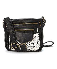 288faa4195c0 Black Crochet-Pocket Crossbody Bag  zulilyfinds