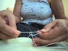 Frivolité - Experimentando: anel e arco, sem navete ou agulhas
