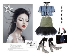 """""""Chin up princess or the crown slips"""" by curlysuebabydoll ❤ liked on Polyvore featuring Unravel, Miu Miu, HUISHAN ZHANG, Joomi Lim, Lulu Guinness, WALL, Christian Louboutin and NARS Cosmetics"""