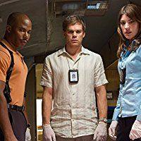 Michael C. Hall, Erik King, and Jennifer Carpenter in Dexter (2006)