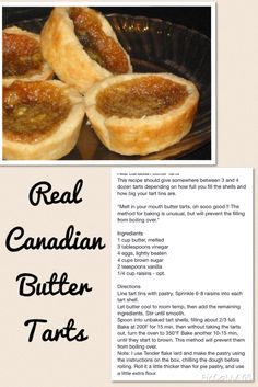 Canadian Butter Tarts Tart Recipes, Dessert Recipes, Cooking Recipes, Vegan Recipes, Welsh Recipes, English Recipes, French Recipes, Italian Recipes, Canadian Food