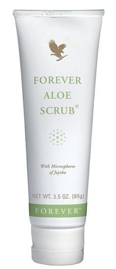Forever Living - Forever Aloe Scrub. Microspheres from the jojoba bean plant and pure aloe vera, gentle enough to use every day even on the face. Works to remove dead skin cells, open pores and clear the way for the skin to renew itself to reveal radiant healthier skin.