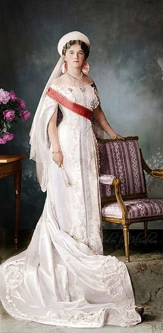 Grand Duchess Olga of Russia 1913 (color) - official portrait