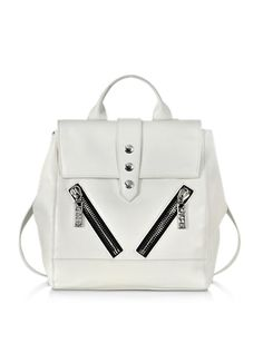 Kenzo White Leather Kalifornia Backpack