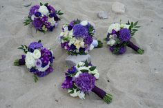 Bridal Bouquet and Bridesmaid Bouquets using purple hydrangeas. Floral Design by Mitchell & Company Designs and Events. Purple Hydrangea Wedding, Purple Hydrangeas, Wedding Flowers, Bridesmaid Bouquets, Floral Design, Floral Wreath, Events, Wreaths, Bridal