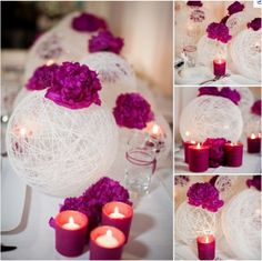 DIY String-ball centerpiece!
