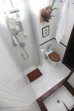 salle de bain 3m2, comment amenager une petite salle de bain, faience blanc