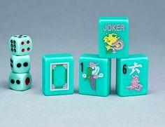Shop Mah Jongg Game Tiles Mah Jongg Sets and Mah Jongg accessoriesAqua Tiles Shades Of Green, Blue Green, Oakland House, Mahjong Set, Flower Tiles, Tile Patterns, Tablescapes, Initials, Objects