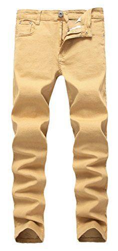FREDD MARSHALL Mens Khaki Skinny Slim Fit Stretch Straight Leg Fashion Jeans  PantsW30x32L  jeans  pants  mensjeans  clothing  fashion  fashionjeans eea27aa6640