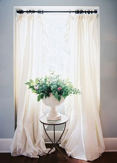 Jamie Meares Photo Flowing White Curtains Hanging Diy Window