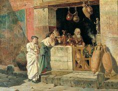 Enrico Salfi - Vendedor de ánforas en Pompeya.