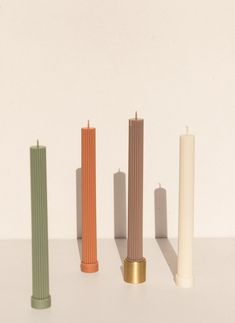 Large Pillar Candles, Taper Candles, Beeswax Candles, Candle Set, Fancy Candles, Candels, Candle Making, Decoration, Sculpture