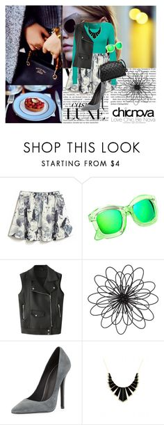 """""""chicnova #11"""" by dinna-mehic ❤ liked on Polyvore featuring Chicnova Fashion, Universal Lighting and Decor, Jeffrey Campbell, House of Harlow 1960, vintage and chicnova"""