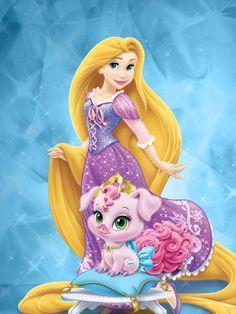 Rapunzel and Truffles 2 by unicornsmile on DeviantArt