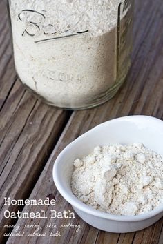 Save money and sooth your skin with this homemade colloidal oatmeal bath.