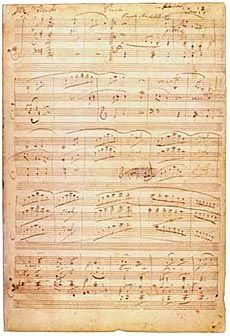 Ludwig van Beethoven, Violin Sonata no. 10 in G Major. Autograph manuscript, 1815