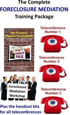 Complete Foreclosure Mediation Training Kit http://www.713training.com