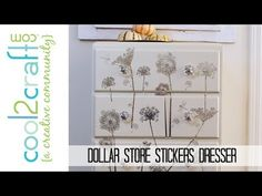 How to Restyle a Dresser with Dollar Store Stickers by Tiffany Windsor #diycrafts #dollarstore